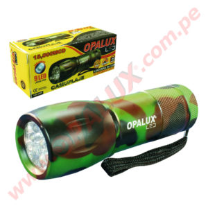 "YT-2009-4C Linterna ""OPALUX"" 9 Led Ultra-Brillante"